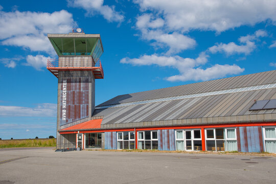 The control tower and terminal at the now abandoned military airbase Avnoe in Denmark