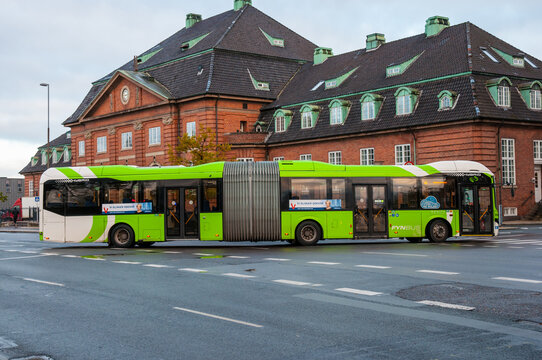 articulated bus in Odense