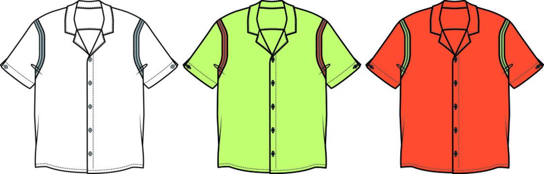 Hawaiian collar shirt for teens.