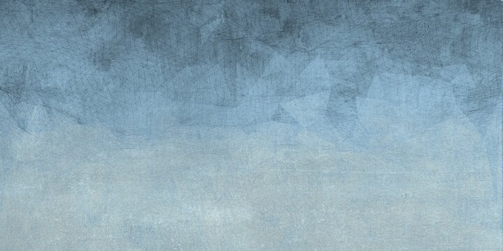 cement floor background with watercolor effect in shades of blue