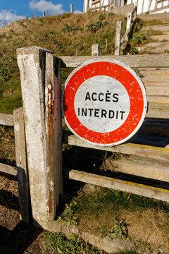 Chemin d'accès interdit
