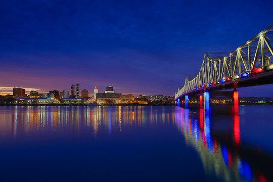Peoria Night Skyline 1