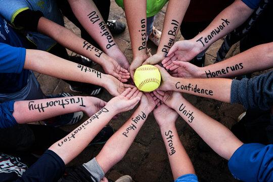 Girls Softball Team Motivation