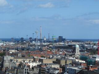 Fototapeta High Angle View Of Buildings In Dublin