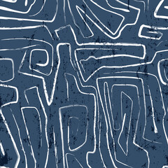 seamless abstract background pattern, with lines, curves, paint strokes and splashes , irregular