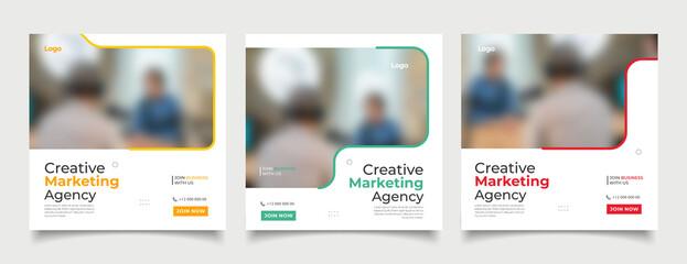 Fototapeta Digital business marketing banner for social media post template  obraz