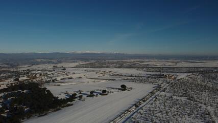 krajobraz zima drzewa śnieg rośliny natura - fototapety na wymiar