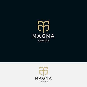 Letter M logo icon design template. Gold, Elegant, luxury, modern, premium vector