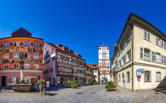 Ravensburger Tor, Frauentor, Wangen im Allgäu, Baden-Württemberg, Deutschland