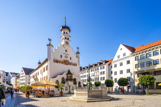 Rathaus, Kempten, Bayern, Deutschland