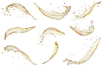 Obraz set of beer splashes - fototapety do salonu
