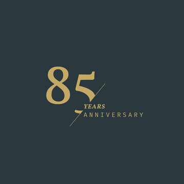 85 years anniversary logotype with modern minimalism style. Vector Template Design Illustration.