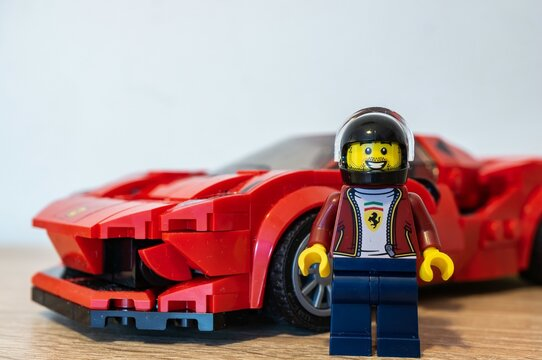 POZNAN, POLAND - May 01, 2020: Lego racer with car.