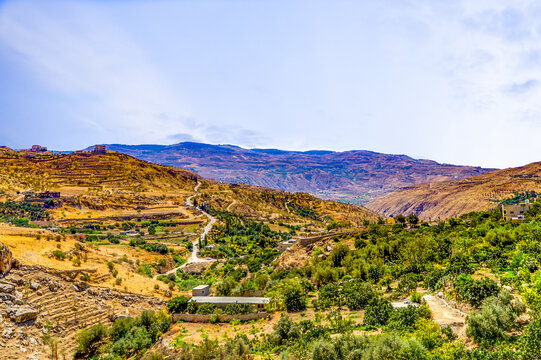 Landscape on the way to the city of Ajloun in the northern Jordan.