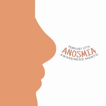vector graphic of anosmia awareness month good for anosmia awareness month celebration. flat design. flyer design.flat illustration.