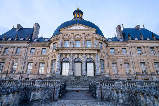 Facade du château de Vaux-le-Victomte