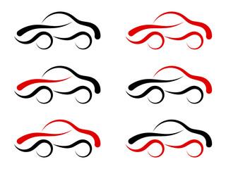 Obraz samochód logo ikona - fototapety do salonu