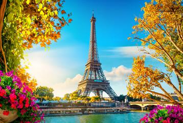 Wall Murals Eiffel Tower Autumn in Paris