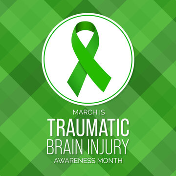 Vector illustration on the theme of Traumatic Brain Injury (TBI) awareness month. it is a disruption in the normal function of the brain that can be caused by a blow, bump or jolt to the head.