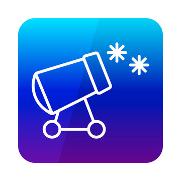 Snow cannon vector icon. Winter sign