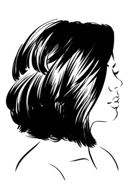 young woman with bob hairstyles