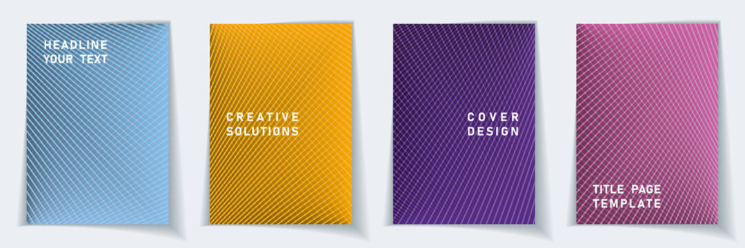 Crossed lines halftone cover page templates batch