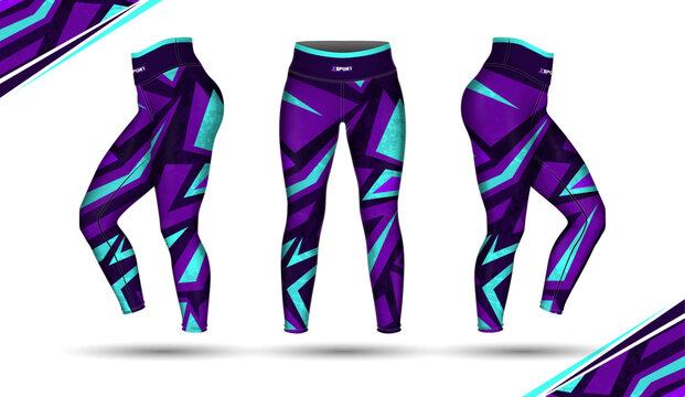 leggings pants training fashion illustration vector with mold