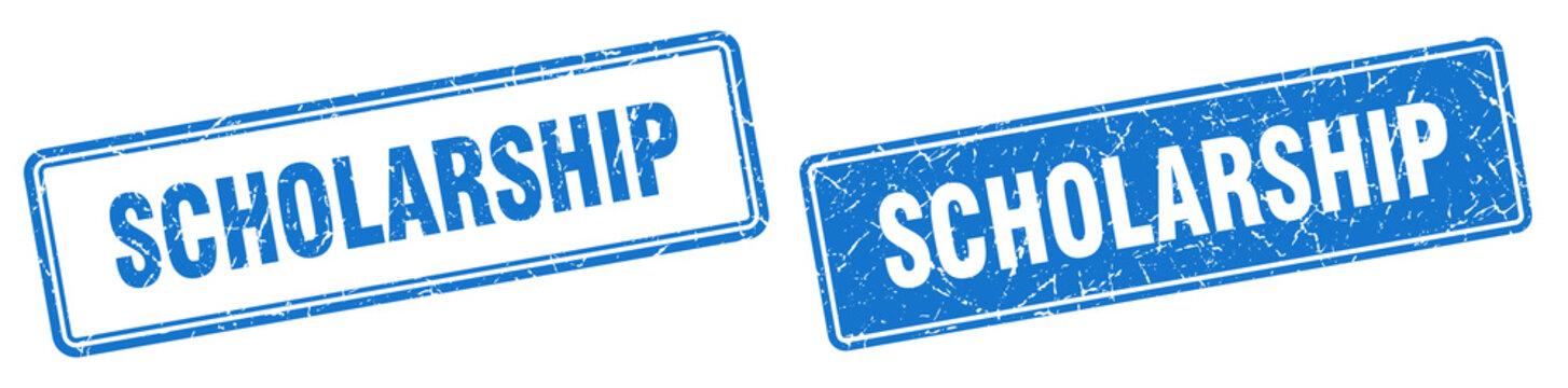 scholarship stamp set. scholarship square grunge sign