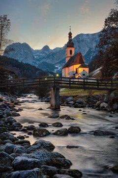 Ramsau in Southern Bavaria, Germany, taken in December 2020