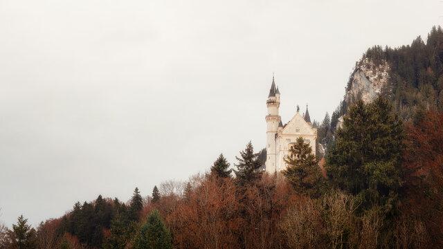 Schloss Neuschwanstein in Southern Bavaria, taken in December 2020