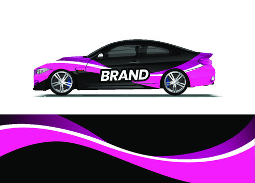 Car decal wrap design vector. Abstract background for vehicle vinyl wrap. Background abstract stripe racing sport graphic designs kit for race car, rally, vehicle, livery and adventure