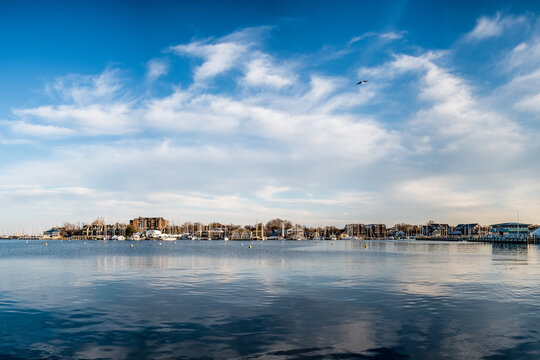 Scenic photos of a dock area in Annapolis, MD