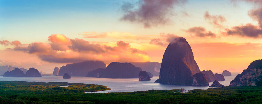 Sametnangshe is the most popular viewpoint for Sunrise and Sunset at Phang Nga, Thailand. It's also the best place for your camping so you can start morning or end your day with beautiful scenery