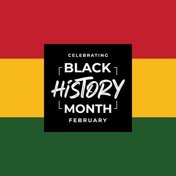 African american afro Black history month background vector illustration