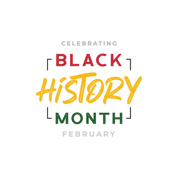 African-Americans Black history month lettering background vector illustration