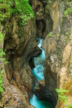 Mostnica gorge near Bohinj in Slovenia
