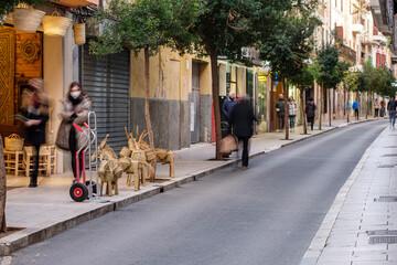 shopping street, Manacor, Mallorca, Balearic Islands, Spain Fotomurales