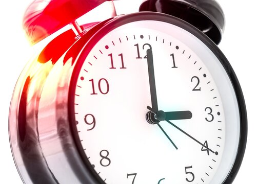 Alarm clock with double bell - winter and summer time concept