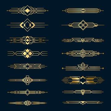 Metal golden dividers set