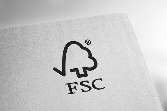 FSC logo editorial illustrative
