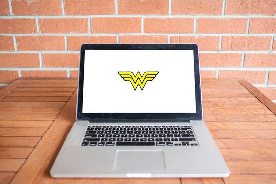 Wonder woman logo editorial illustrative