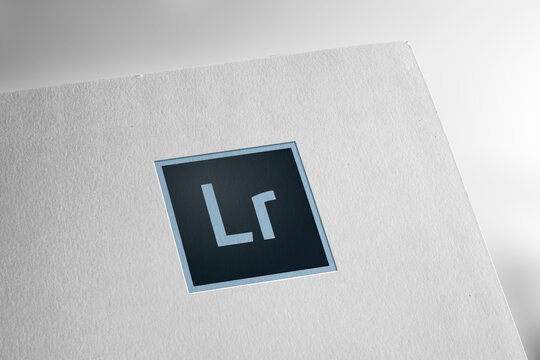 Adobe Lightroom logo editorial illustrative