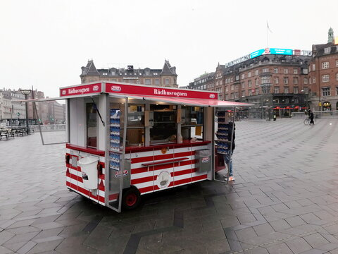 Danes celebrate the 100th anniversary of Denmark's iconic hot dog stands, in Copenhagen