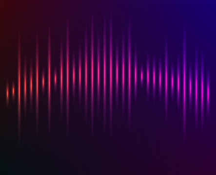 Color music equalizer - Sound waves abstract - purple background for different joyful events. Vector illustration eps 10 can be used presentation template, brochure layout page, cover magazine moskup