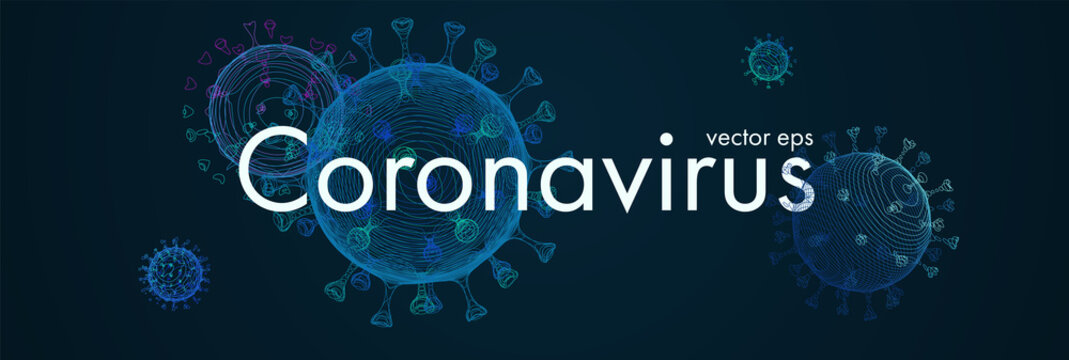 Novel Coronavirus. 2019-nCoV. Virus Covid-19. Coronavirus 3d isolated vector illustration.