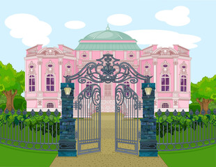 Romantic Palace with Gate