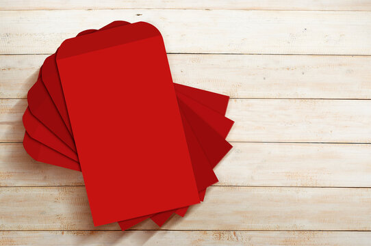 Stack of red envelopes (Angpao)