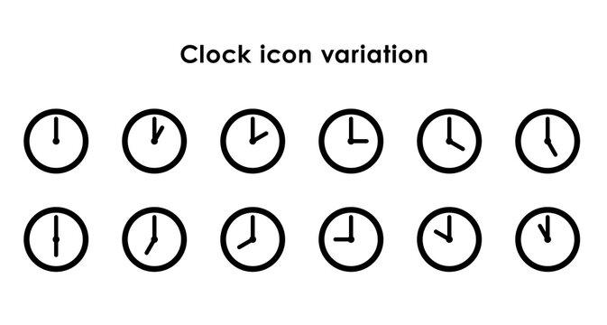 時計アイコンの24時間セット