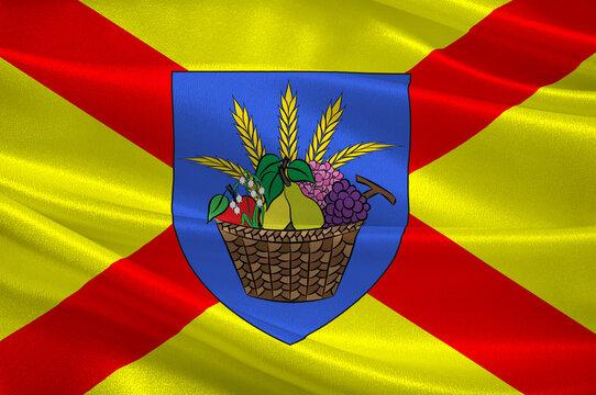 Flag of Bobigny in Seine-Saint-Denis, France