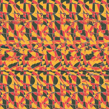 Stereogram illusion with insect fly in hidden 3D picture